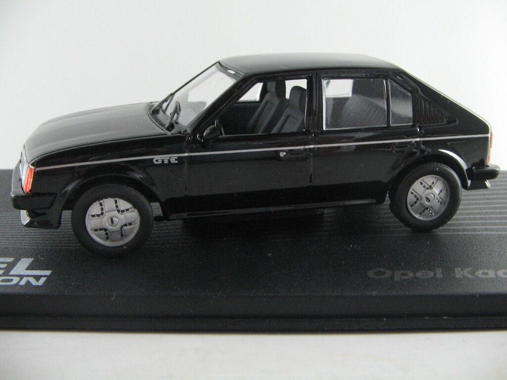 IXO Opel Kadett D GT E (1983-1984) in black 1 43 NEU PC-Vitrine