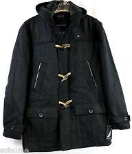 Nautica Men's Hooded Toggle Coat, Charcoal Dark Gray, L Large