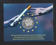BELGIË - MUNTENSET 2001 - 500 F, BELGISCH VOORZITTERSCHAP EU - set in blister