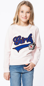NEW-ZADIG-amp-VOLTAIRE-KIDS-039-Girls-039-sweatshirt-Light-pink-cotton-SIZE-Small