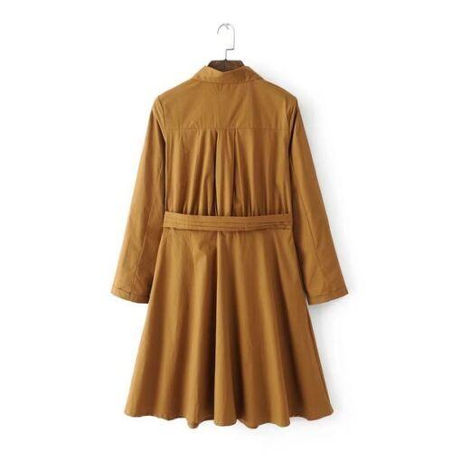 Lungo 1299 Beige Donna Comodo Spolverino Elegante Giacca Cappotto Soprabito YFPx0w8C