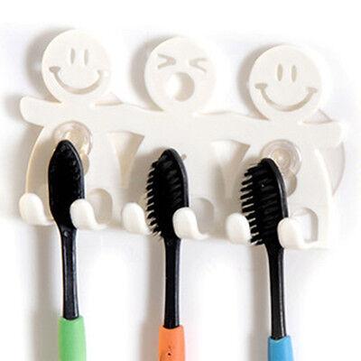 GOOD Bathroom Kitchen Toothbrush Towel Holder Wall Sucker Hook holder AU JR