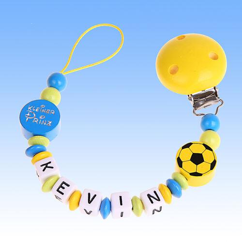 Fußball MySchnullerkette 22 Schnullerkette mit Namen Junge Mädchen