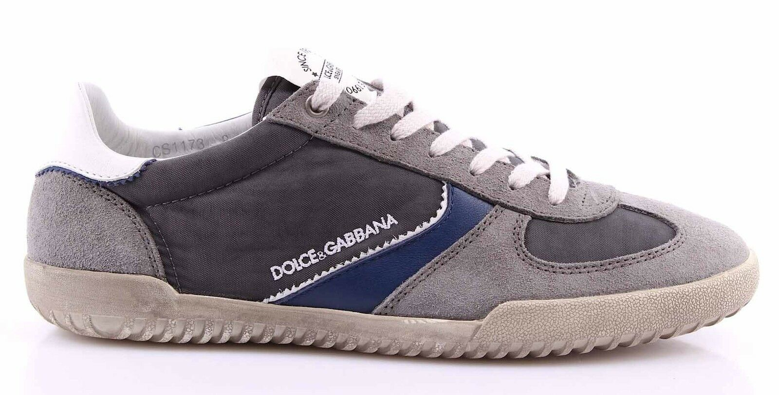 Scarpe Sneakers Camoscio Uomo DOLCE & GABBANA Camoscio Sneakers Tela Grigio Scuro 43dedc