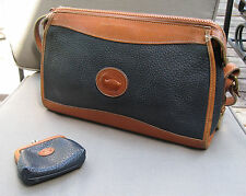VINTAGE DOONEY & BOURKE ALL WEATHER LEATHER SHOULDER BAG AND COIN PUIRSE
