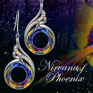 Colorful-Crystals-Nirvana-of-Phoenix-Silver-Drop-Earrings-Women-Gorgeous-Gift