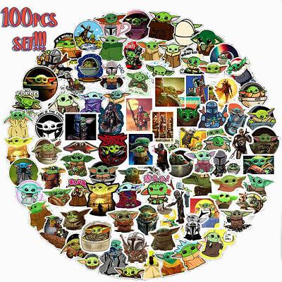 50 Pcs Baby Yoda Sticker Pack The Mandalorian Star Wars Yoda Decoration Gift