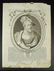 Engraving-Nicolas-Larmessin-Thierry-II-King-of-Francs-Merovingian-Xvii-Burgundy