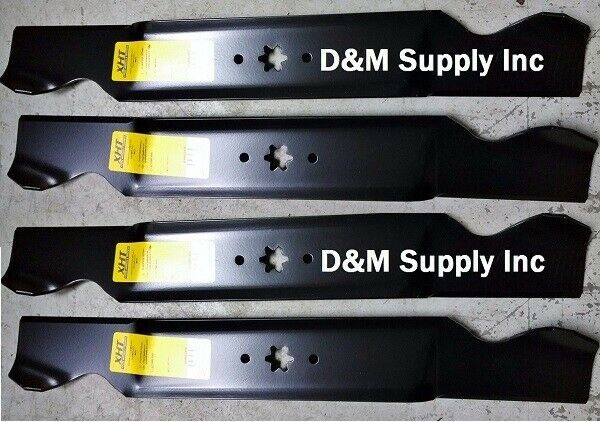 4 Pack Commercial Cub Cadet Lawnmower 42  High Lift Blades