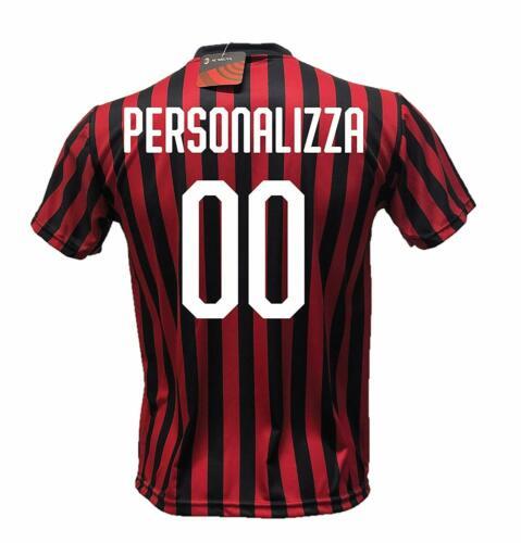 Maglia calcio Ufficiali Milan PERSONALIZZATA con Tuo GIOCATORE PREFERITO o Nome