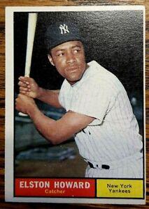 Topps-ELSTON-HOWARD-1961-Card-No-495-N-Y-Yankees