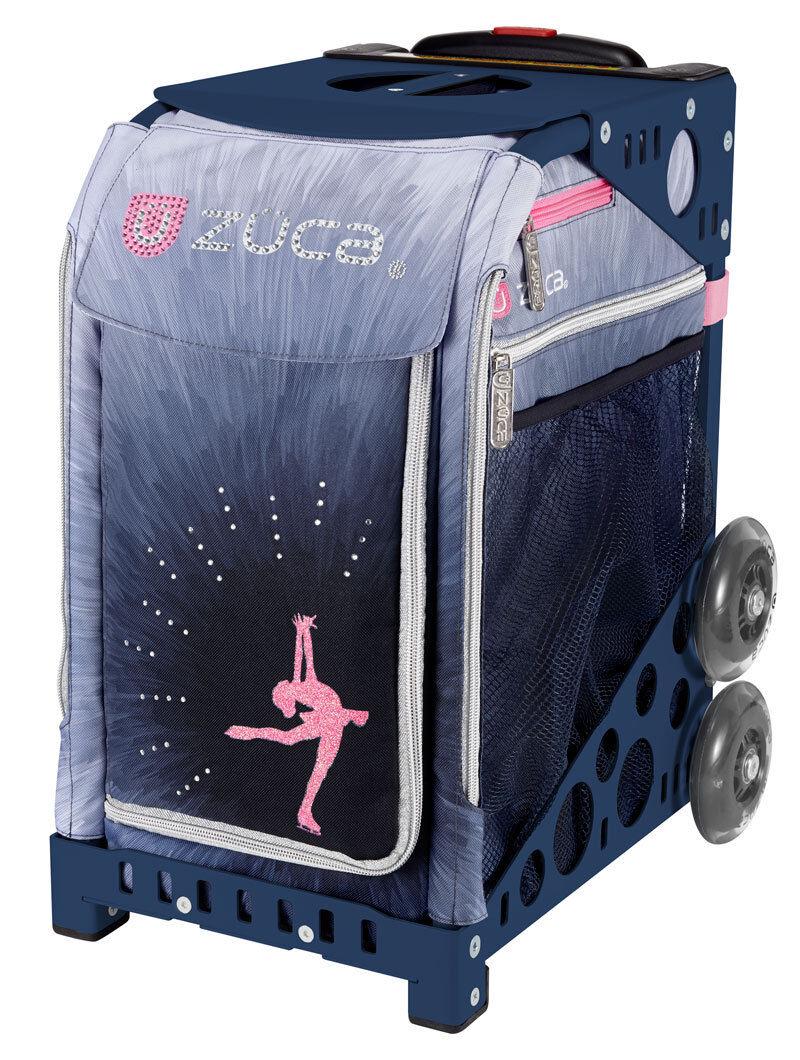 ZUCA Bag Ice Dreamz LUX Insert & Navy bluee Frame w Flashing Wheels -FREE CUSHION