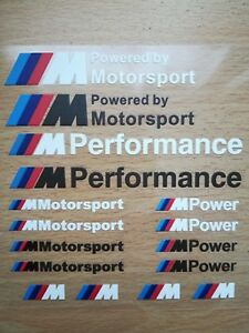 16-Pcs-Car-Styling-M-Performance-Power-Car-Stickers-And-Decals-Kit-For-BMW