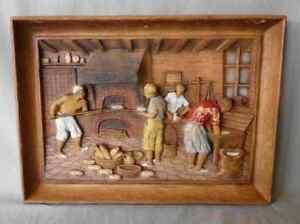 Tableau-ancien-en-bois-sculpte-ou-resine-imitation-bois