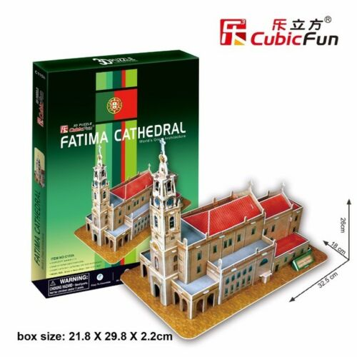 3D puzzle paper building model toy Portugal Fatima Cathedral church architecture