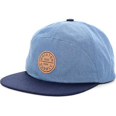 BRIXTON GOMEZ NAVY BLUE STRAPBACK HAT//CAP 100/% AUTHENTIC NEW w//TAG!!