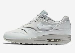 Details about Women's Nike Air Max 1 LX PURE PLATINUM GREY WHITE ALL 3M  SAIL OFF 917691-002