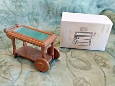 Vtg New CONCORD Mini Dollhouse Wood TEA CART - Orig Box