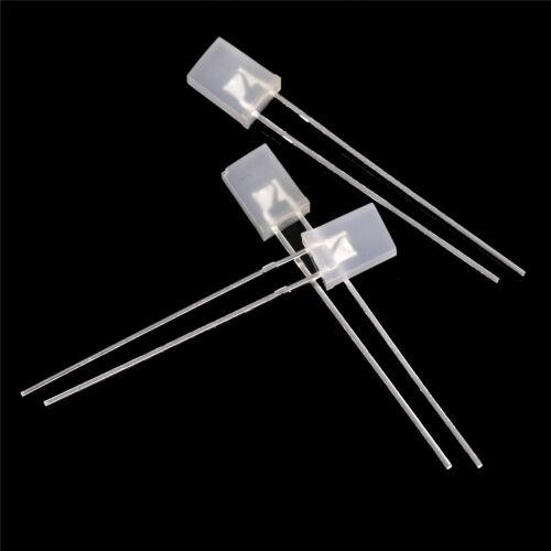 100pcs 2 7mm rechteckige LED Dioden weiß//grün//rot//blau  ju 5