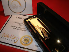 24ct Gold Plated Jack Daniels JD Whisky Music Harmonica Gift Boxed