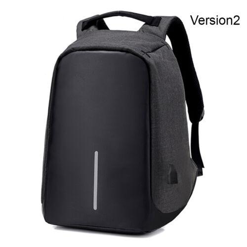 "Anti-Theft Waterproof Backpack External USB Charge Port 15/"" Laptop School Bag"