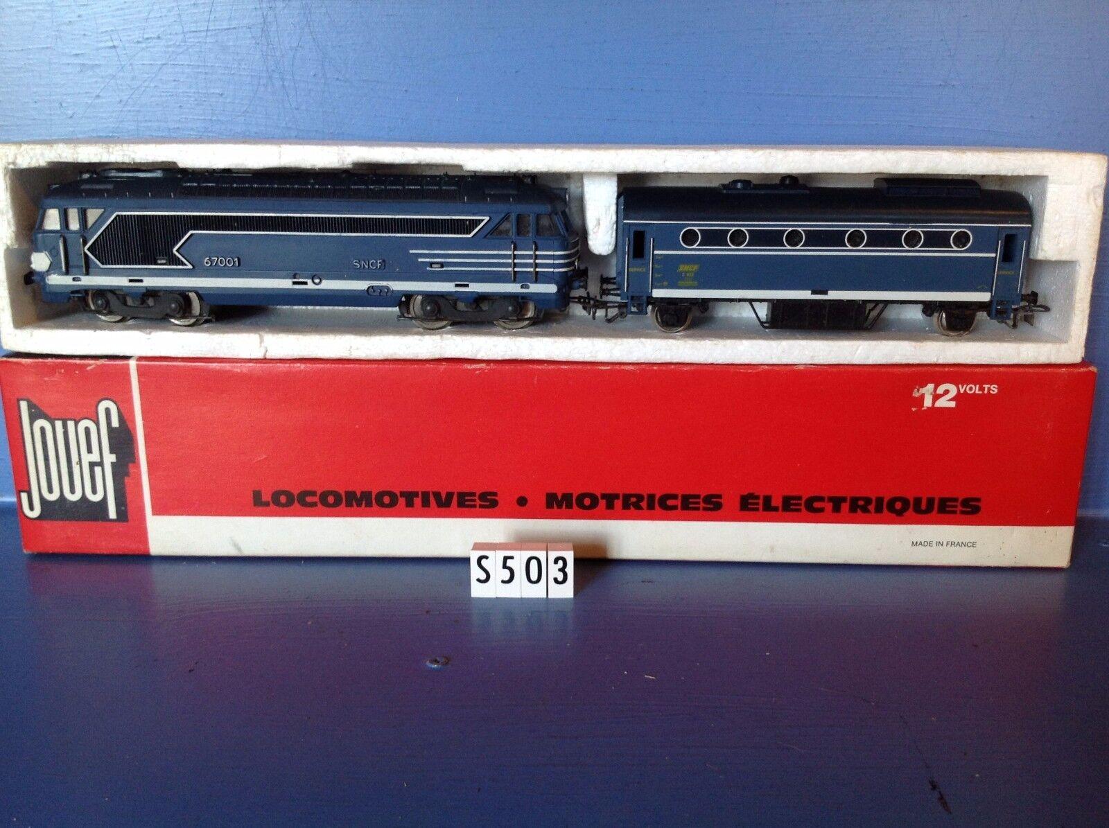 (S503) Loco électrique 6701 + Auto service ref 8412 en boite Jouef, ech   Ho