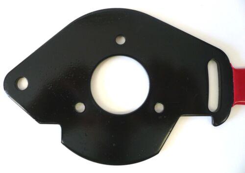 Lathe Motor Mounting Plate Adjustable Steel Construction w// Plastisol Handle New