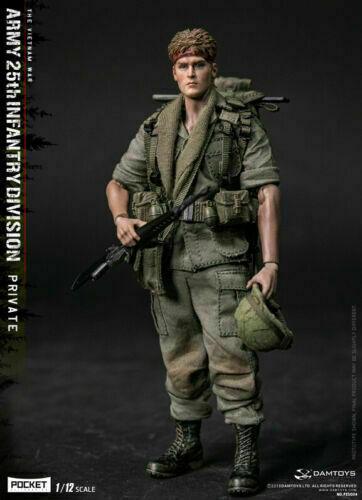DAMTOYS 1 12 Pocket Elite Serie Ejército División de Infantería 25th Juguetes figura privado