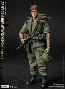 Damtoys 1/12 Pocket Elite Series Army 25th Infantry Division Figure privée Jouets 6970569629452