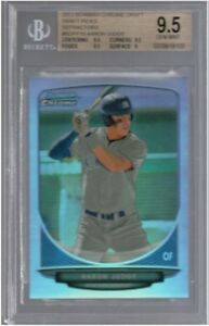 BGS-9-5-AARON-JUDGE-2013-Bowman-Chrome-REFRACTOR-19-Rookie-Non-Auto-RC-GEM-MINT