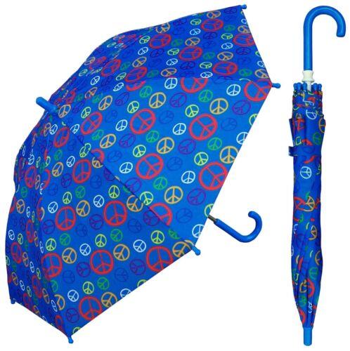 "32"" Arc Children Kid Peace Sign Umbrella RainStoppers Rain//Sun UV Cute"