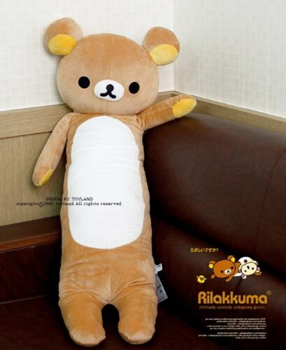 2018 Hot New Rilakkuma Relax Bear Body ow X Plush Ko ow Kawaii Gift 40""