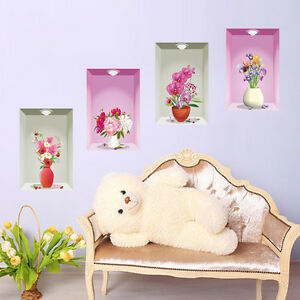 Wandtattoo wandsticker wandaufkleber premium blumen for Dekorative bilder wohnzimmer