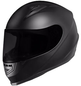 GLX-Full-Face-Motorcycle-Helmet-Street-Bike-Matte-Black-DOT-Approved-2-Visors