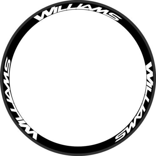 WILLIAMS Rim Wheel Decals Stickers Road Bike Replacement Set of 12 FOR 700C