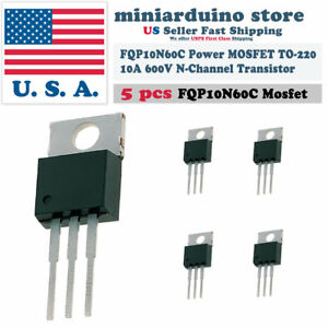 5pcs-FQP10N60C-TO-220-N-Channel-MOSFET-10A-600V-Transistor