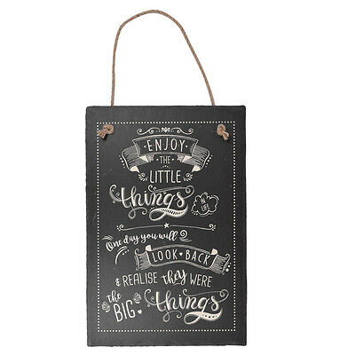 Enjoy The Little Things Hanging Slate Plaque Sign Gift New Say It With Slate Ran