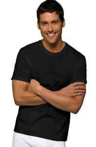 Size 2XL 100/% Cotton 1 T-Shirt Men/'s Crewneck T-Shirts Undershirt Black