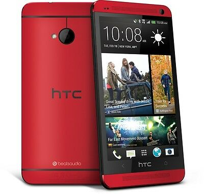 4.7 '' NOUVEAU HTC One M7 Unlocked Quad-core Smartphone - WIFI 32GB 4MP -  ROUGE