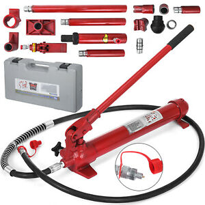 10-Ton-Porta-Power-Hydraulic-Jack-Panel-Beating-Auto-Body-Dent-Frame-Repair-Kit