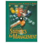 Statistics for Management by Richard I. Levin, David S. Rubin (Hardback, 1997)