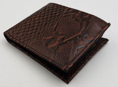 Homme deux volets Panther empreinte portefeuille Western Cowboy Cuir Carte de crédit titulaire