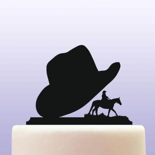 Acrylic Cowboy Hat Wild West Cake Topper Decoration