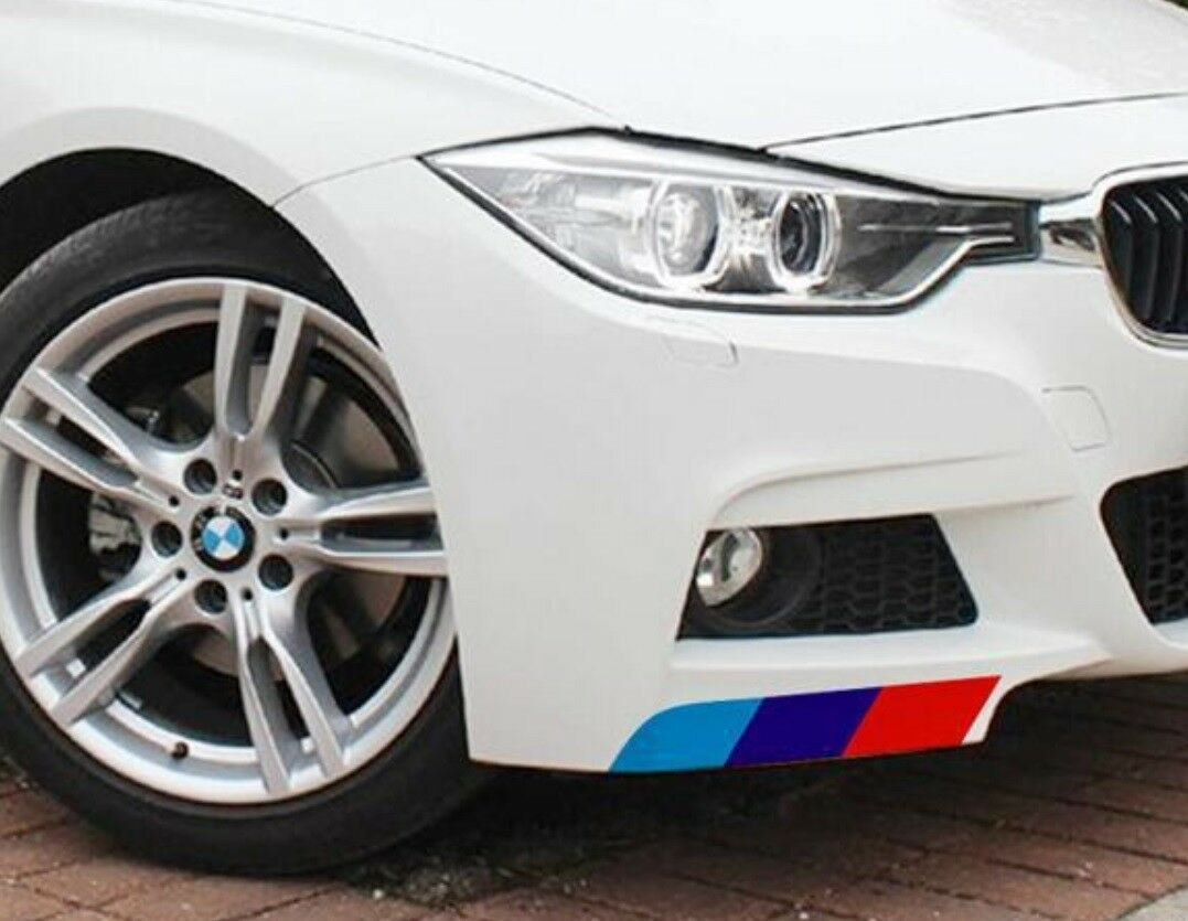 Details about mcolored stripe auto body motor stickers m performance for bmw m3 m5 e3 2pcs set