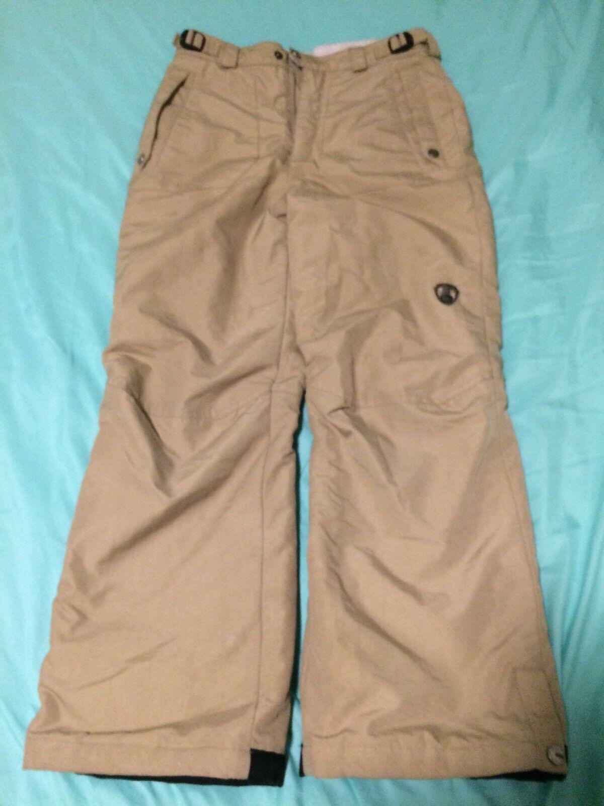 Columbia Congreen Youth Size 10 12 Beige Ski Snowboarding Winter Pants TS8