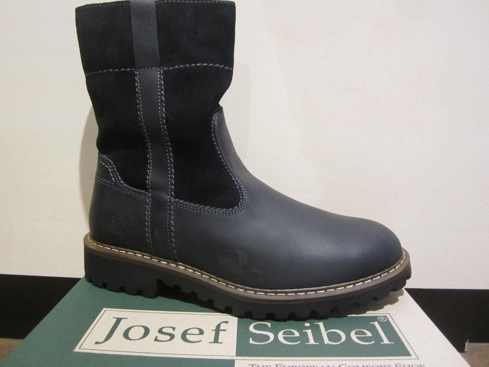 Seibel botas de Hombre botas de Invierno botas Botínes Cuero Negro 21927 Nuevo
