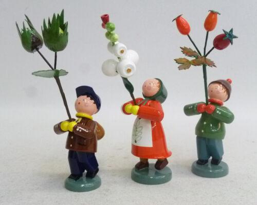 Früchte Original Handwerkskunst//Erzgebirge Straco Herbstfrüchtekinder 3 versch