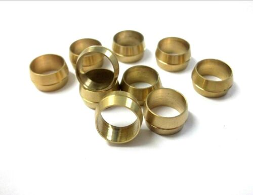 Pack of 5 Brass Olives 12mm Compression Pipe fitting *Top Quality!