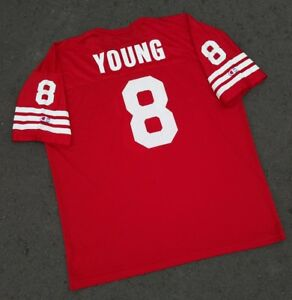 free shipping 1e4c6 d64db Details about Vtg San Francisco 49ers Steve Young Jersey Sz 52 XL Champion  USA football nfl