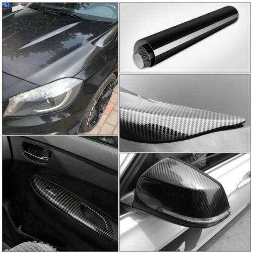 152 x 50cm 5D Selbstklebend Carbon Folie Auto KFZ Klebe Folie Glanz Matt Schwarz